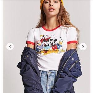 Forever 21 Disney ringer shirt